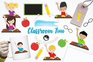 Classroom Fun illustration pack