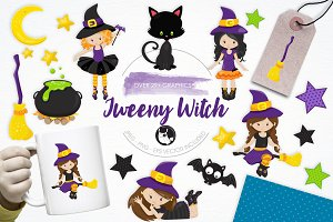 Tweeny Witch illustration pack