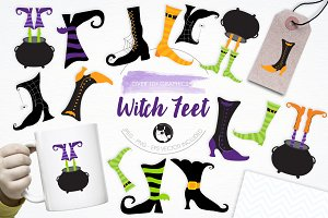 Witch Feet illustration pack