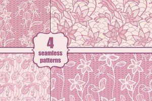 lace seamless floral patterns