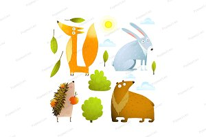 Baby animals clip art collection