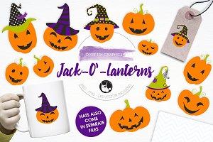 Jack O' Lanterns illustration pack