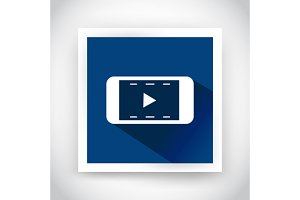 Icon of video for web and mobile