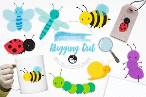 Bugging Out illustration pack