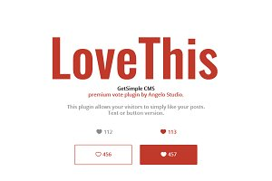 LoveThis - GetSimple plugin