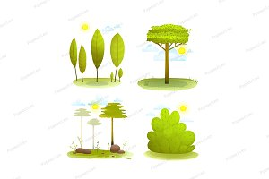 Summer landscape scenery background