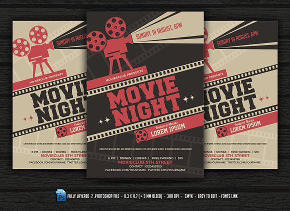Movie night flyer movie night flyer flyers maxwellsz