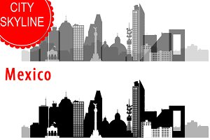 Mexico city skyline vector