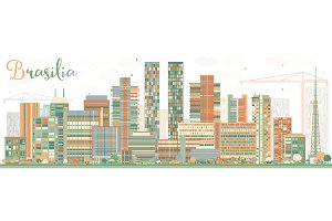 Abstract Brasilia Skyline