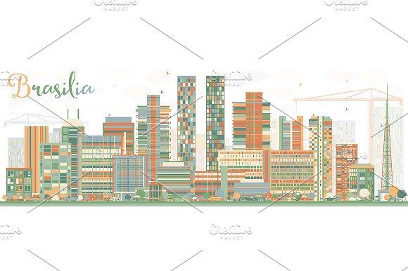 Abstract Brasilia Skyline