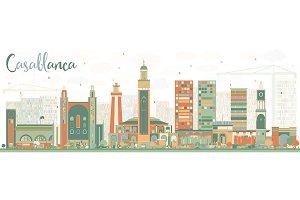 Abstract Casablanca Skyline