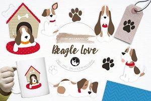Beagle Love illustration pack