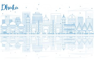 Outline Dhaka Skyline