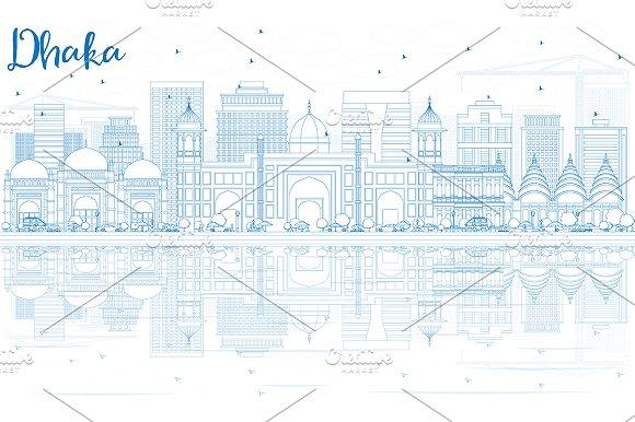 Outline Dhaka Skyline