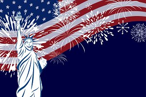Vector USA celebration design