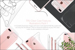 TPU Clear Phone Case Features Pack