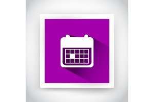Icon of calendar for web and mobile