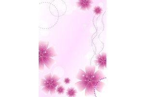 Beautiful card with floral ornament