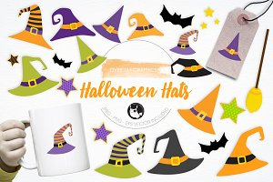 Halloween Hats illustration pack