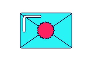 bright envelope icon