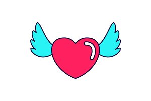 heart love wings