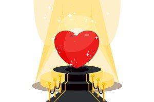 heart on black carpet