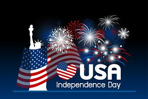 Vector USA independence day design