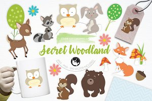 Secret Woodland illustration pack