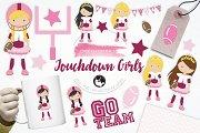 Touchdown Girls illustration pack