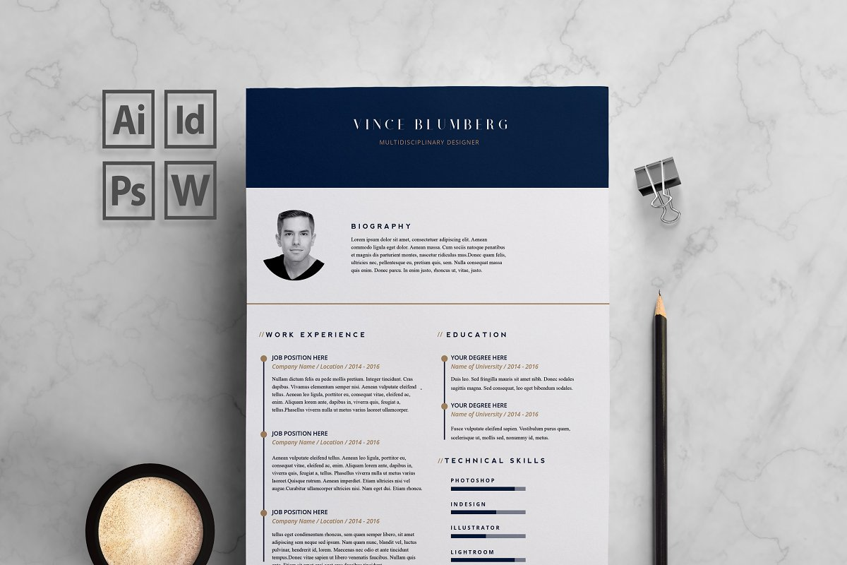 Resume CV 2 Pages
