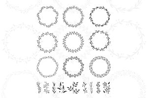 Round floral wreaths