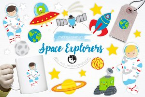 Space Explorers illustration pack