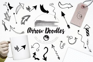 Arrow Doodles illustration pack