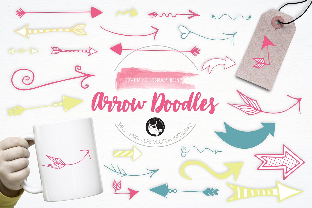 Arrow Doodles illustration pack in Illustrations - product preview 8
