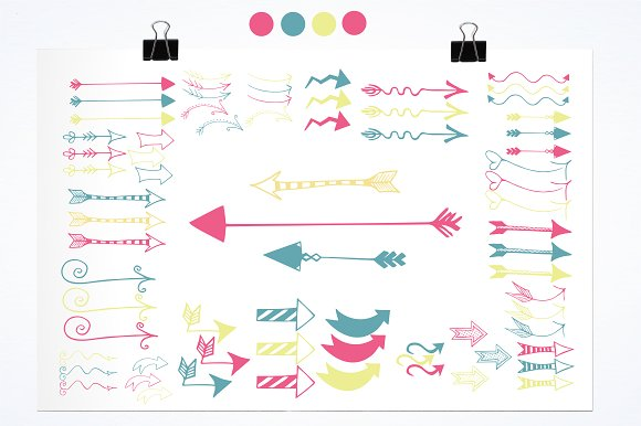 Arrow Doodles illustration pack in Illustrations - product preview 1