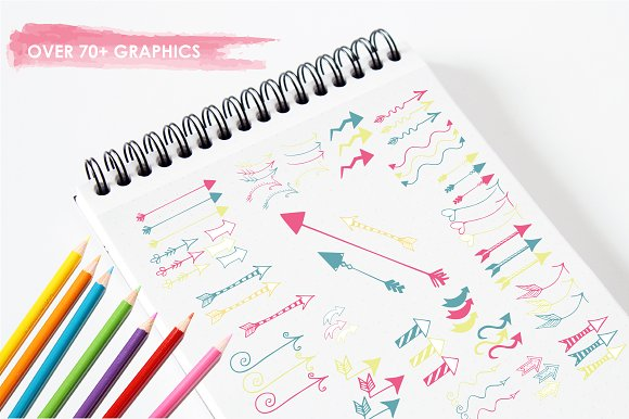 Arrow Doodles illustration pack in Illustrations - product preview 2