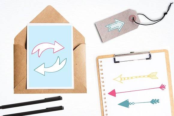 Arrow Doodles illustration pack in Illustrations - product preview 3