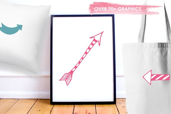 Arrow Doodles illustration pack in Illustrations - product preview 4