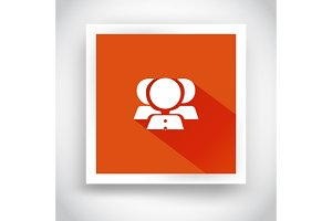 Icon of contacts for web and mobile