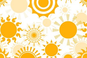 Sunny seamless pattern