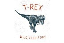 Dinosaur T-Rex running