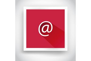 Icon of email for web and mobile