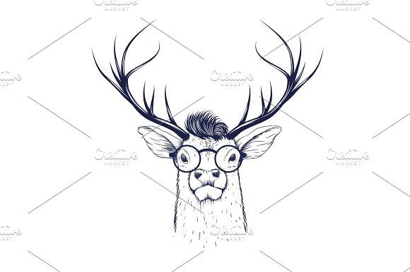 Deer Head In Glasses