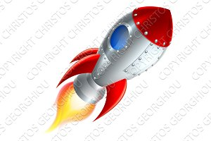 Rocket Space Ship Cartoon