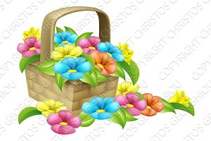 Basket of Flowers Design