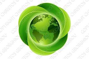 Leaves Globe Circle Concept