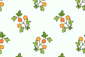 Branches with fruits pattern