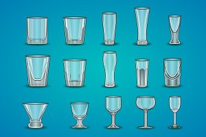 Vector set of stemware
