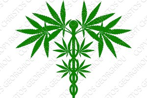 Medical Marijuana Plant Caduceus