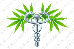 Medical Marijuana Cannabis Caduceus